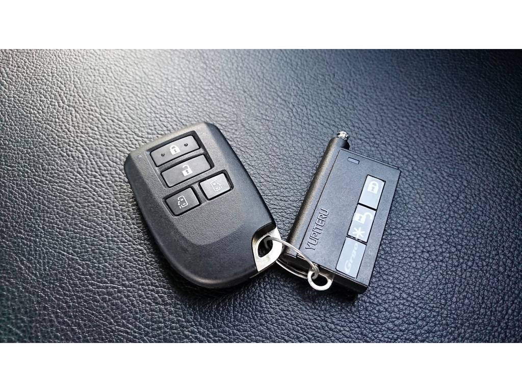 プロショップモデルのスマートキー連動セキュリティ付きです! | トヨタ ハイエースバン 2.7 スーパーGL ダークプライム ワイド ミドルルーフ ロングボディ 4WD