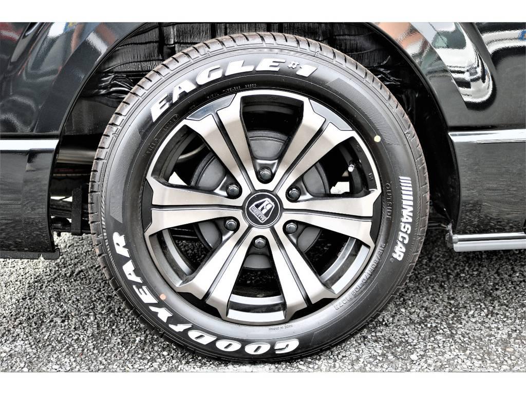 フレックスオリジナルカラーのバルベロアーバングランデ17インチ&ナスカータイヤ! | トヨタ ハイエースバン 2.7 スーパーGL ダークプライム ワイド ミドルルーフ ロングボディ 4WD