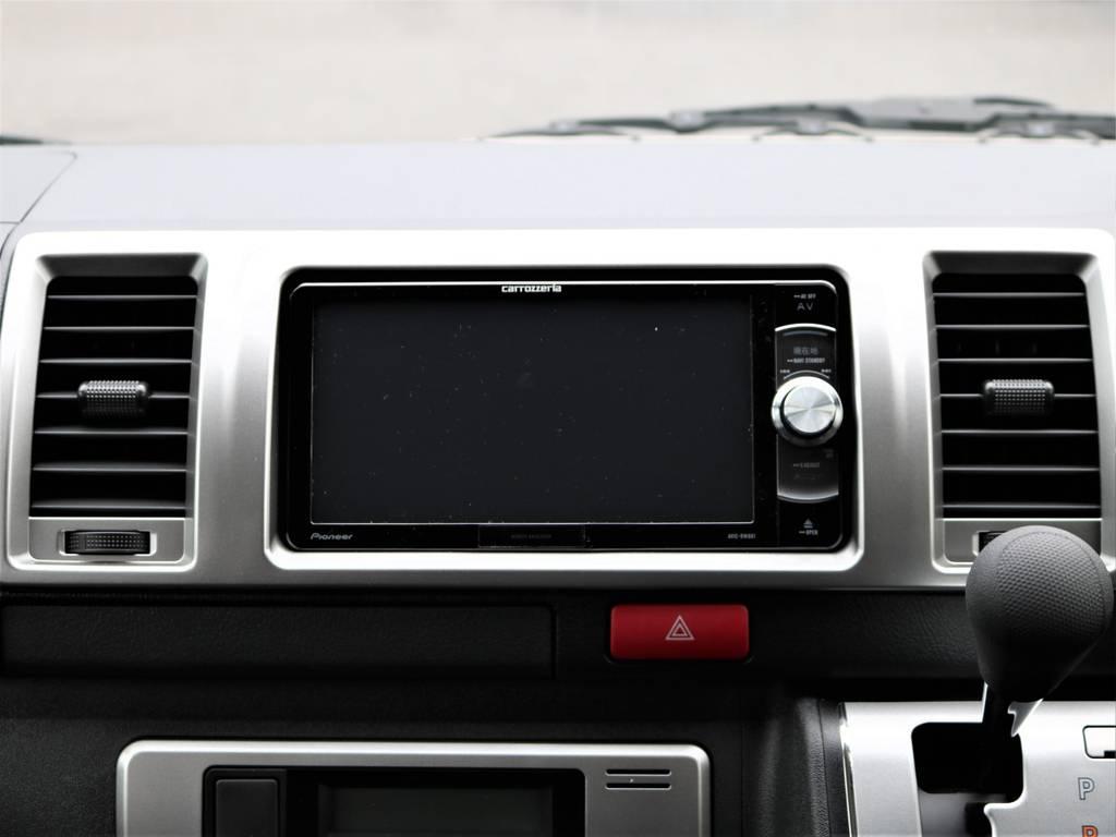 フルセグSDナビ付きなのでご納車後すぐにドライブが可能です! | トヨタ ハイエースバン 2.0 スーパーGL ロング ネオクラシックパッケージ
