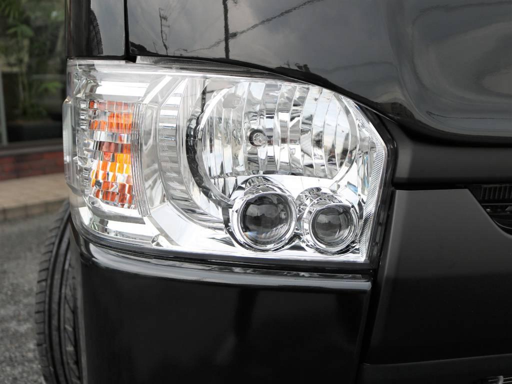 省電力で明るい純正メーカーオプションのLEDヘッドライト付きです! | トヨタ ハイエースバン 2.0 スーパーGL ロング ネオクラシックパッケージ