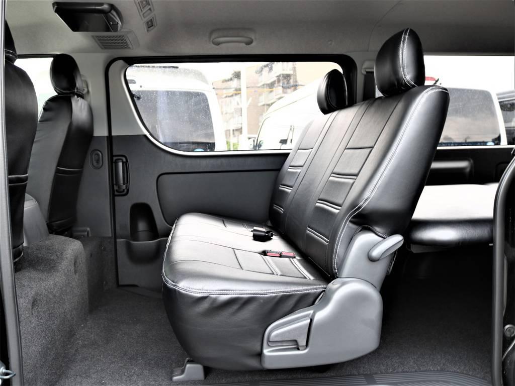 広々とした大人の方でもゆったり座れるリアシートです! | トヨタ ハイエースバン 2.0 スーパーGL ロング ネオクラシックパッケージ