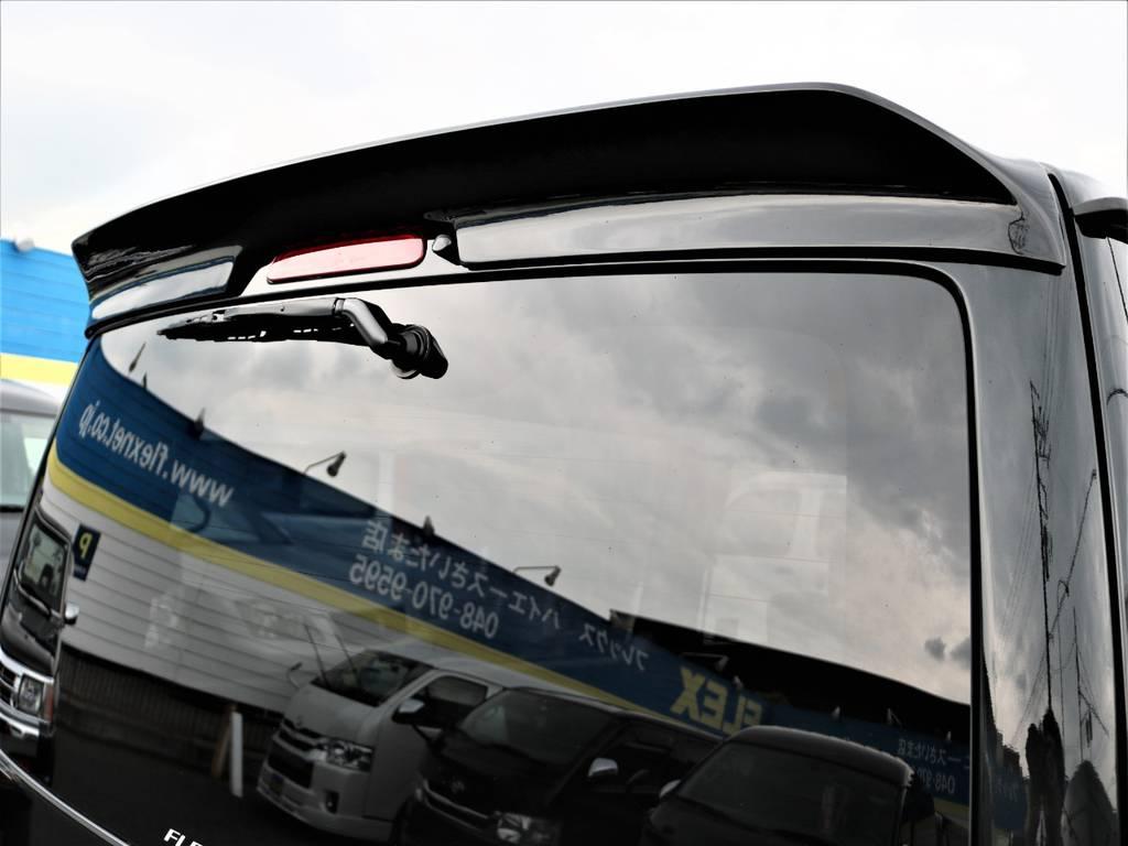 板ッパネ風のルーフスポイラーです! | トヨタ ハイエースバン 2.0 スーパーGL ロング ネオクラシックパッケージ