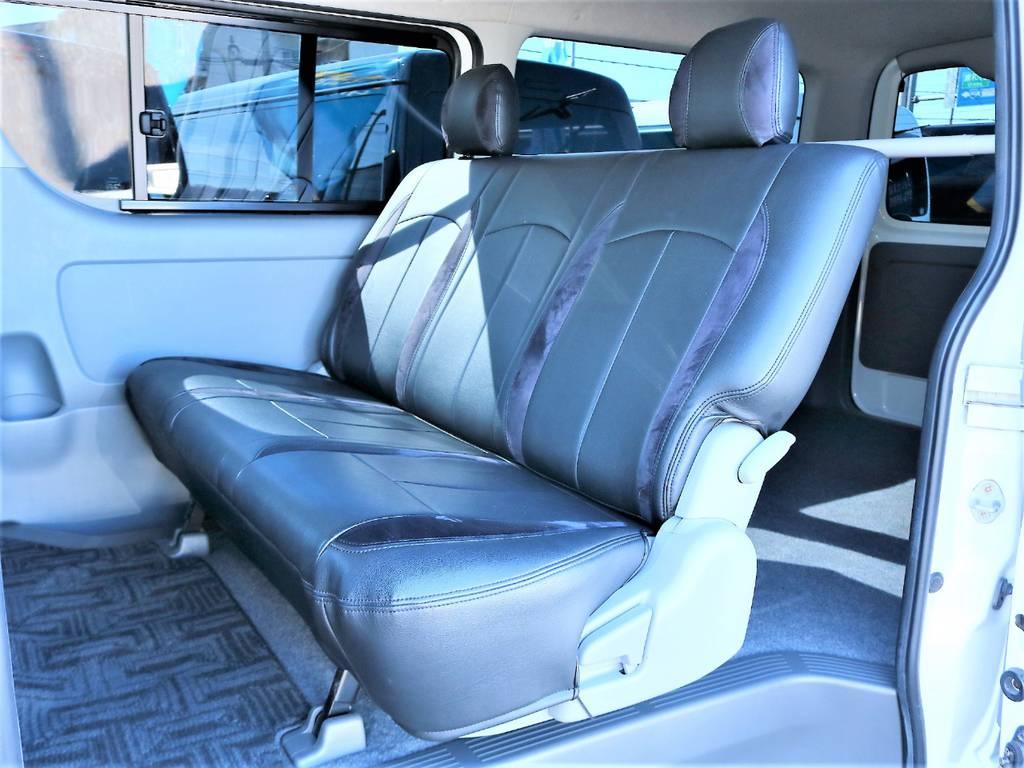 大人の方でもゆったりと座れるリアシートです! | トヨタ ハイエースバン 2.0 スーパーGL ロング 2型 低走行!