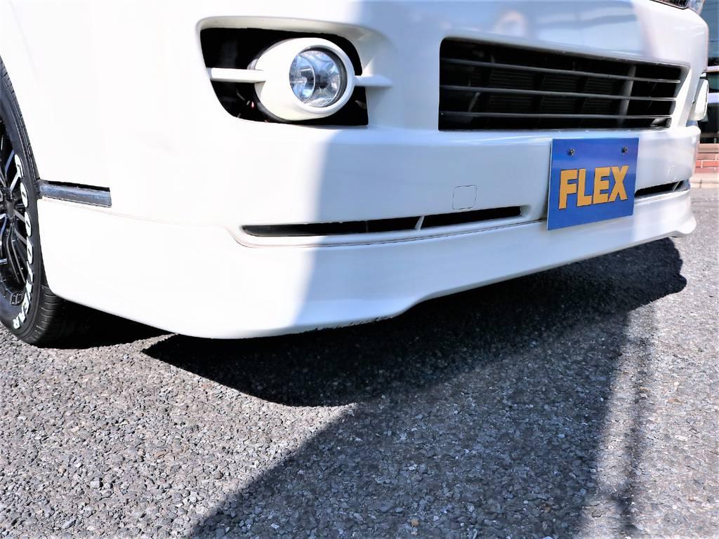 スポーティなフロントスポイラーが装着されております! | トヨタ ハイエースバン 2.0 スーパーGL ロング 2型 低走行!
