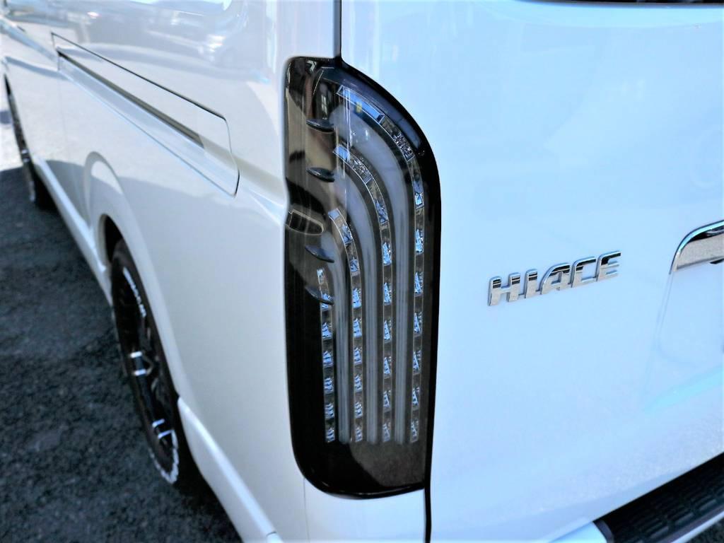 FLEXオリジナル煌LEDテールもインストール済みです! | トヨタ ハイエースバン 2.0 スーパーGL ロング 2型 低走行!
