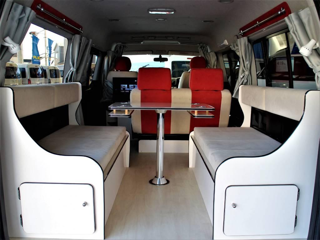 テーブルのみのご使用も可能です! | トヨタ ハイエース 2.7 GL ロング ミドルルーフ
