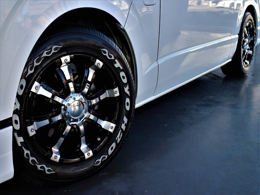 ビースト16インチアルミホイール! TOYO H20ホワイトレタータイヤ! | トヨタ ハイエース 2.7 GL ロング ミドルルーフ