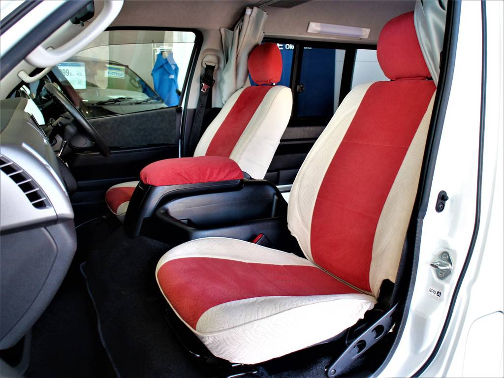 全席シートカバー! | トヨタ ハイエース 2.7 GL ロング ミドルルーフ