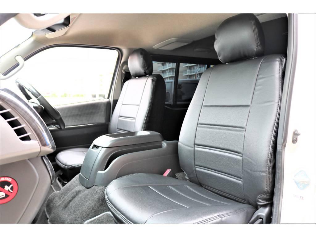 新品シートカバーはもちろん全席です! | トヨタ ハイエースバン 2.0 スーパーGL ロング ワンオーナー下取直販
