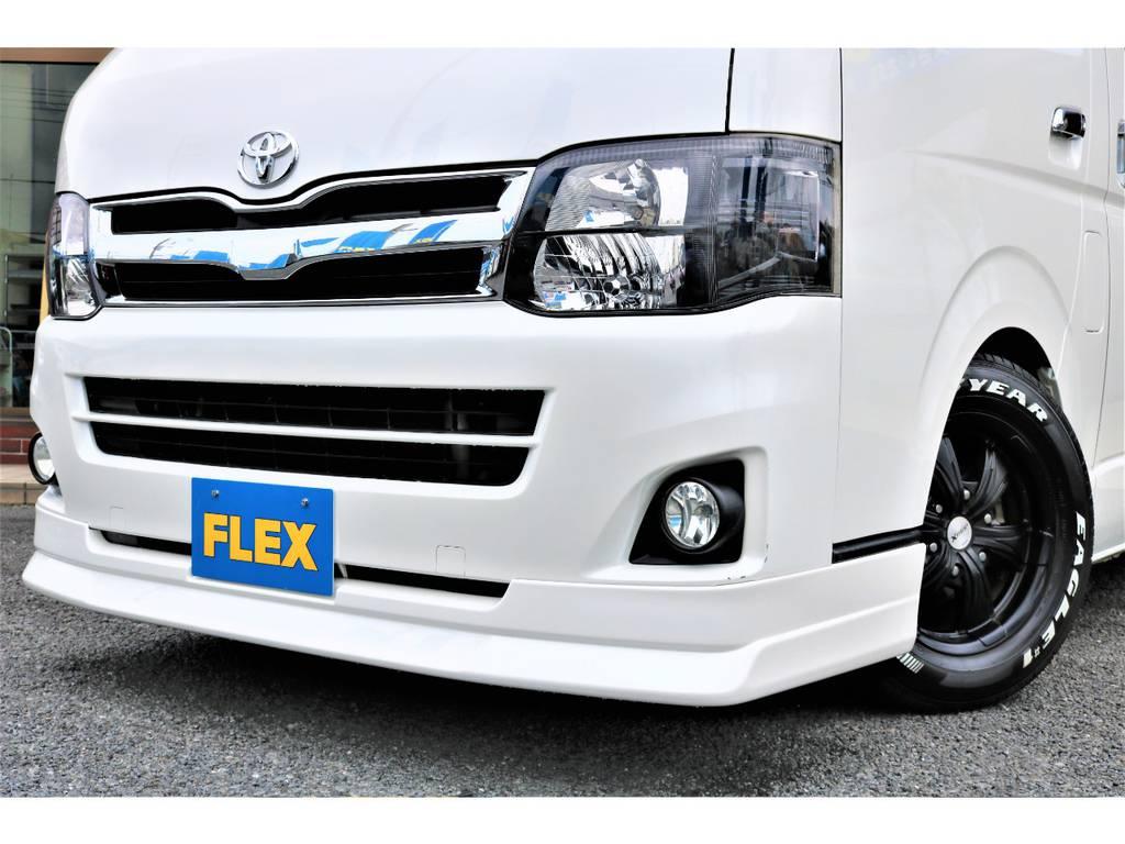 新品FLEXオリジナルフロントスポイラー! | トヨタ ハイエースバン 2.0 スーパーGL ロング ワンオーナー下取直販