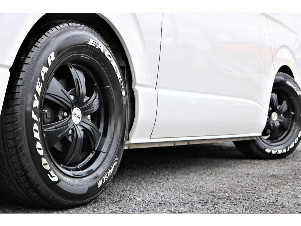 ワーク製エクストラップ16インチアルミホイール! | トヨタ ハイエースバン 2.0 スーパーGL ロング ワンオーナー下取直販