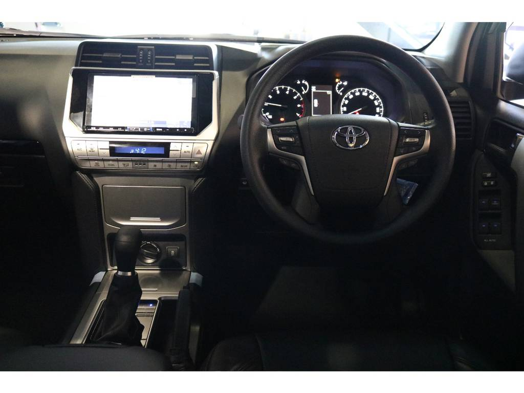 新品アルパイン9インチナビ、バックカメラ、ETC付きで直ぐにでもお乗り頂けます。 | トヨタ ランドクルーザープラド 2.7 TX 4WD 7人 新車未登録 2インチリフトUP