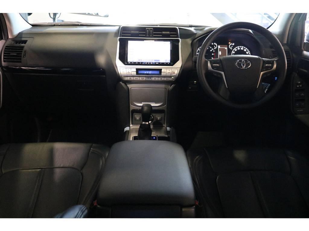 9インチの大きなナビ、ETC付きですのですぐに乗り出せますね! | トヨタ ランドクルーザープラド 2.7 TX 4WD 7人 新車未登録 2インチリフトUP