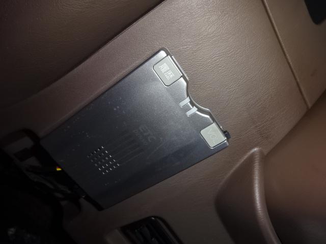 必需品のETCのしっかりついております! | トヨタ ランドクルーザー80 4.5 VXリミテッド 4WD 角目四灯 ブラックNEWペイント