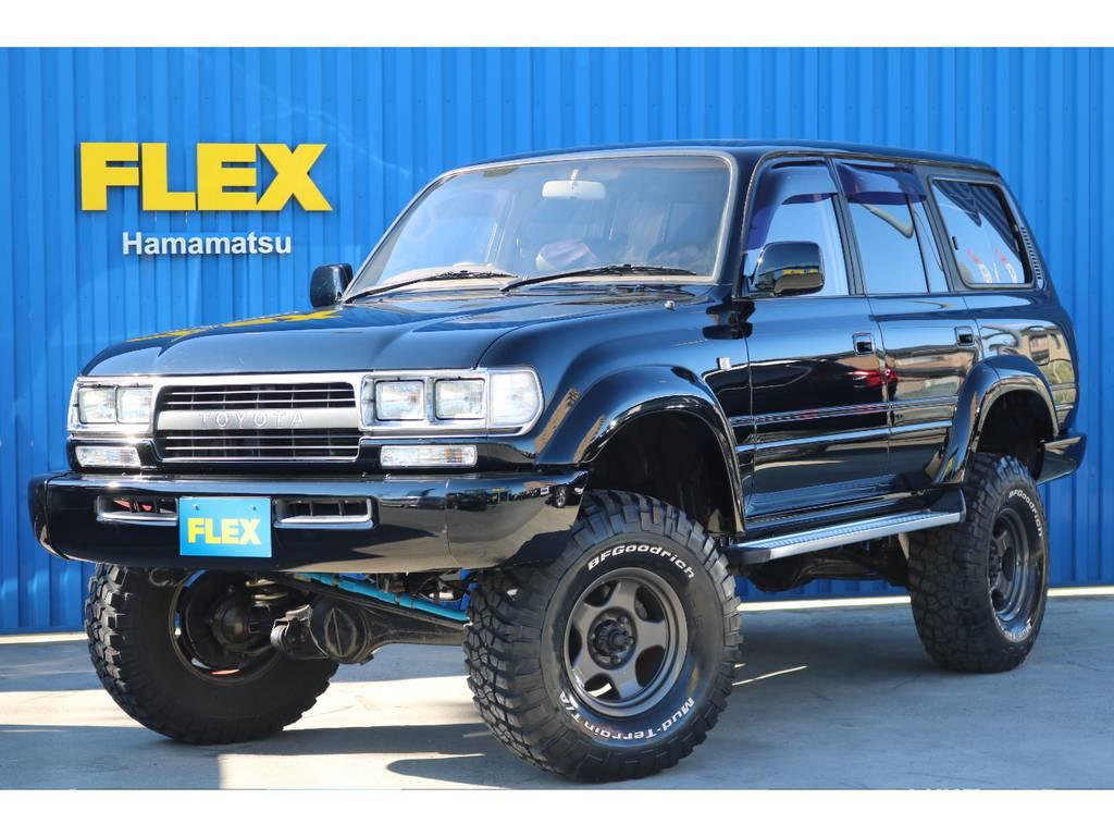 ランクル80VX-LTDブラックNEWペイント!! | トヨタ ランドクルーザー80 4.5 VXリミテッド 4WD 角目四灯 ブラックNEWペイント