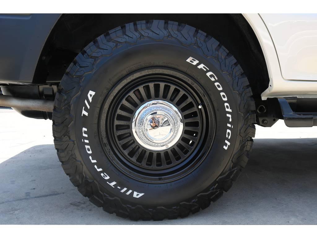 新品BFグッドリッチATタイヤ。 | トヨタ ランドクルーザープラド 2.7 TX リミテッド 4WD 丸目換装 クラシックコンプリート
