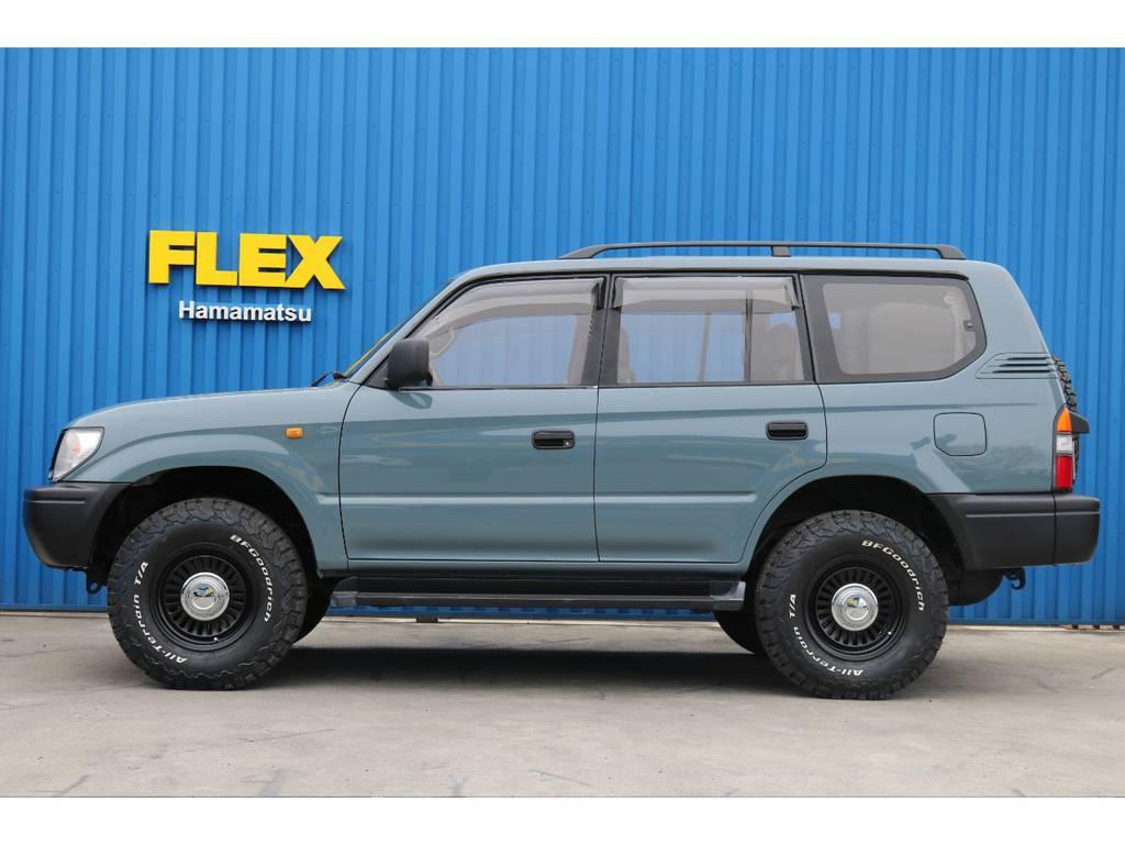 大きさも調度良く、女性のお客様でもとっても運転しやすい大きさです! | トヨタ ランドクルーザープラド 3.0 TX ディーゼルターボ 4WD 低走行8万km