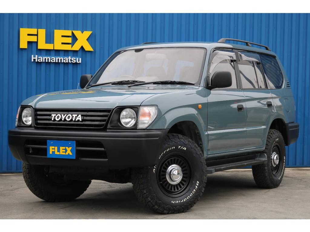 95プラドTXディーゼルターボ!!NEWペイントアンヴィル!! | トヨタ ランドクルーザープラド 3.0 TX ディーゼルターボ 4WD 低走行8万km