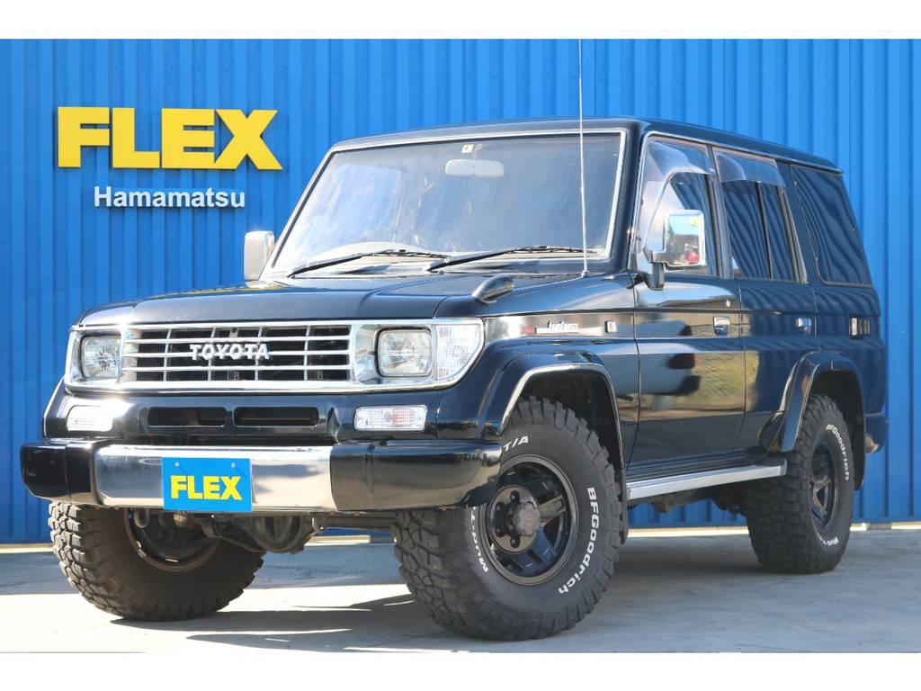 78プラド最上級グレードEXブラックの入庫です。   トヨタ ランドクルーザープラド 3.0 EXワイド ディーゼルターボ 4WD ブラックオールP