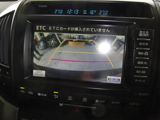 バックカメラ付きですので車庫入れも楽々ですね! | トヨタ ランドクルーザー200 4.6 AX Gセレクション 4WD 純正マルチ 革シート