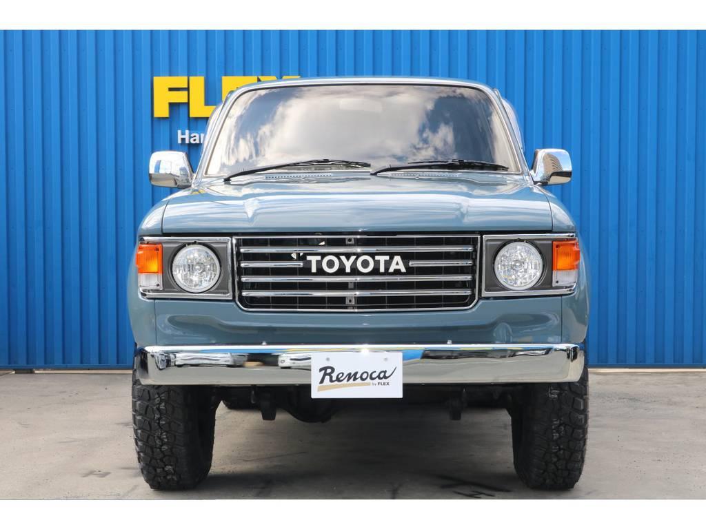 北海道~沖縄まで全国何処でも納車可能です。 | トヨタ ランドクルーザー80 4.2 VX ディーゼルターボ 4WD NEWペイントアンヴィル 丸目換装