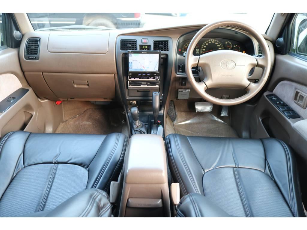 見晴らしの良い運転席はロングドライブもストレスを感じさせません!   トヨタ ハイラックスサーフ 2.7 SSR-G 4WD ディーゼルグリーンNEWペイント
