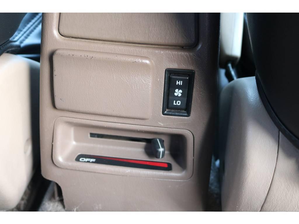 リアヒーター付き!後ろの席も快適です!   トヨタ ハイラックスサーフ 2.7 SSR-G 4WD ディーゼルグリーンNEWペイント