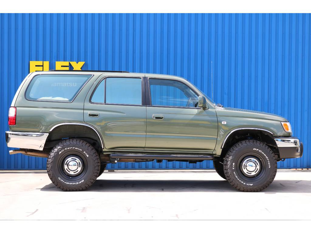 新品コイルにて2インチリフトアップ!   トヨタ ハイラックスサーフ 2.7 SSR-G 4WD ディーゼルグリーンNEWペイント