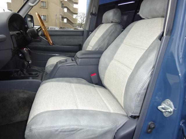 新品オリジナルシートカバー!! | トヨタ ランドクルーザー80 4.5 VXリミテッド 4WD アルルブルーオールP 60丸目換装