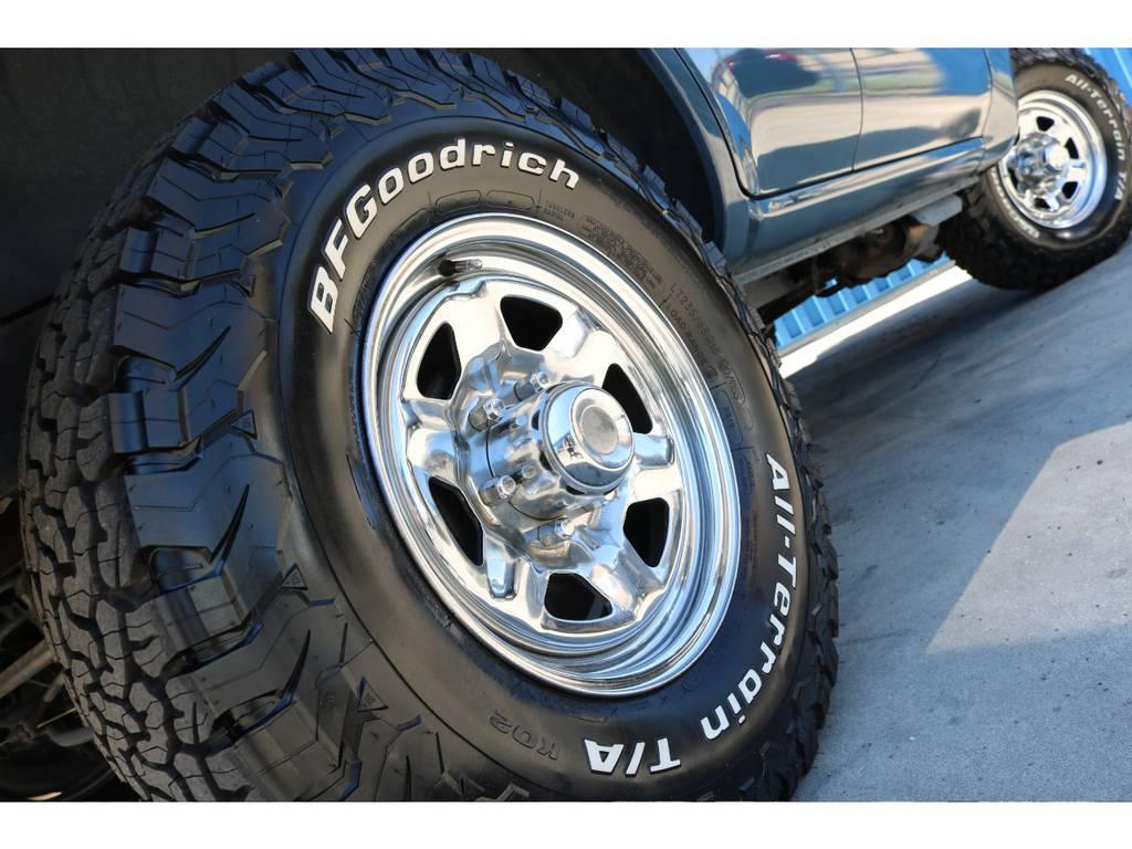 新品BFグッドリッチATタイヤ。 | トヨタ ランドクルーザー80 4.5 VXリミテッド 4WD アルルブルーオールP 60丸目換装