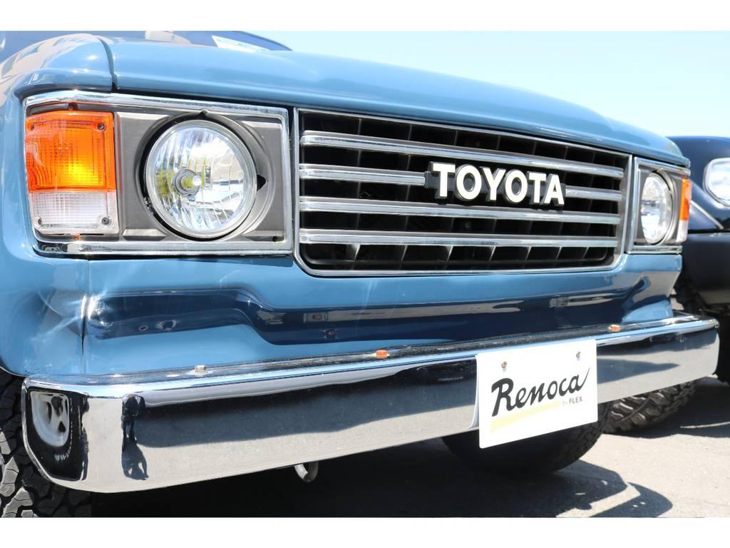 北海道から沖縄まで全国何処でも登録納車可能です。 | トヨタ ランドクルーザー80 4.5 VXリミテッド 4WD アルルブルーオールP 60丸目換装