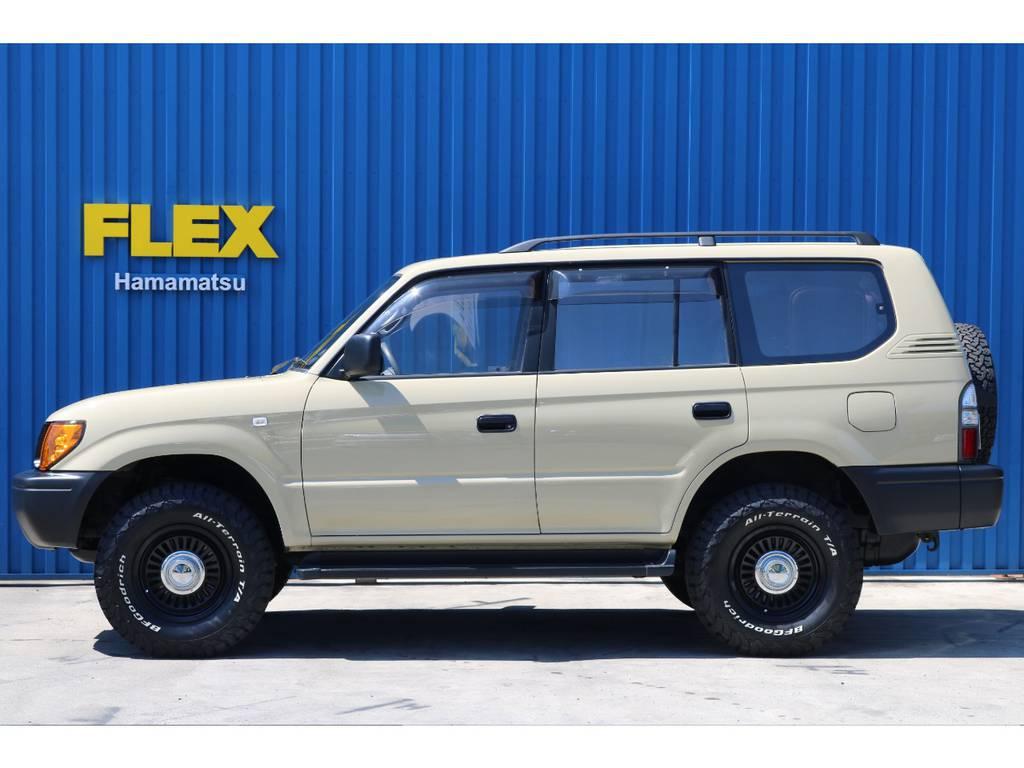 | トヨタ ランドクルーザープラド 2.7 TX リミテッド 4WD ベージュNEWペイント