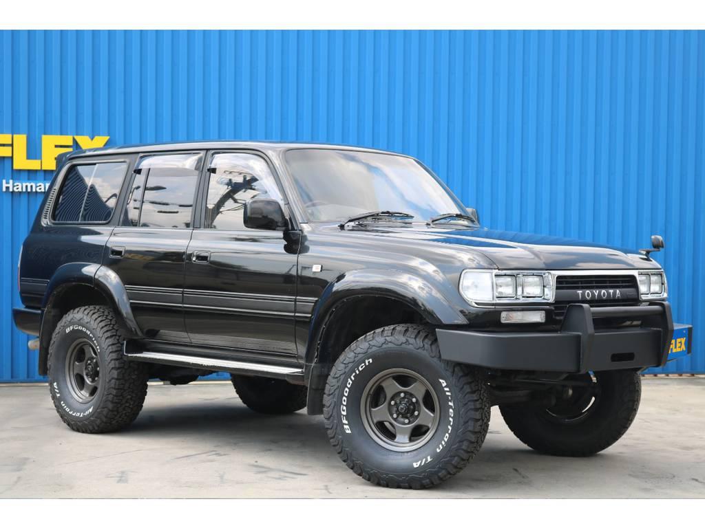 街乗りだけでなくオフロードもガンガンお使い下さい。 | トヨタ ランドクルーザー80 4.5 VXリミテッド アクティブバケーション 4WD ブラックオールP 3インチリフトUP