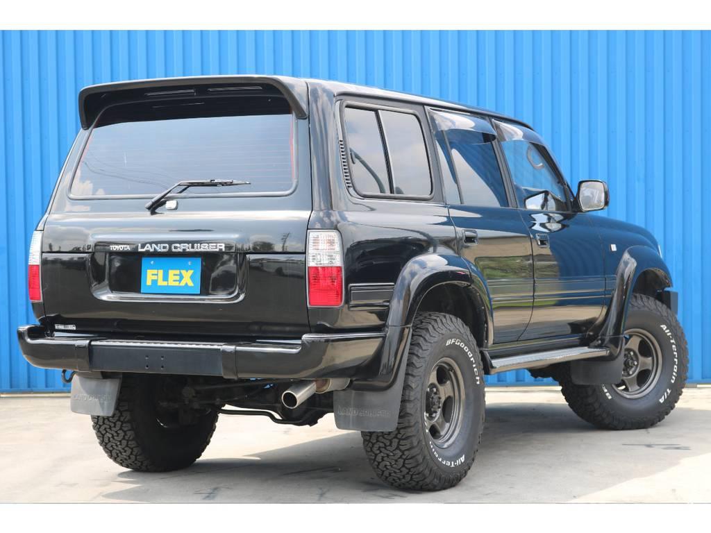 1ナンバー登録ですので維持費もお徳です。 | トヨタ ランドクルーザー80 4.5 VXリミテッド アクティブバケーション 4WD ブラックオールP 3インチリフトUP
