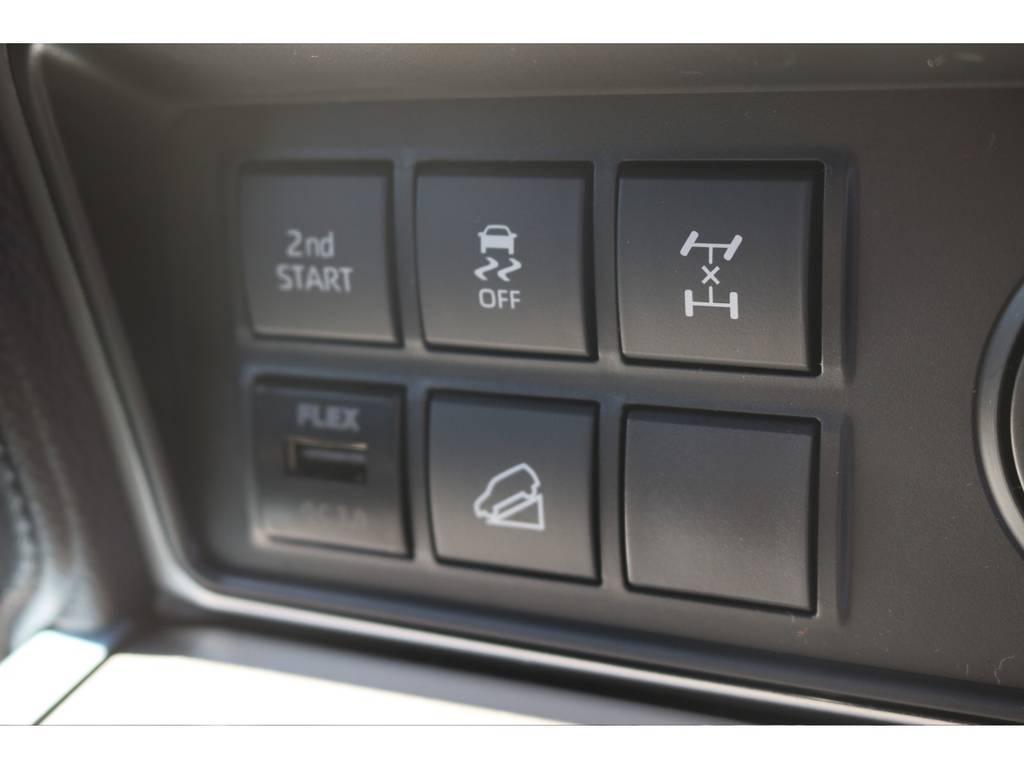 FLEXオリジナルのUSB電源も装着しております。