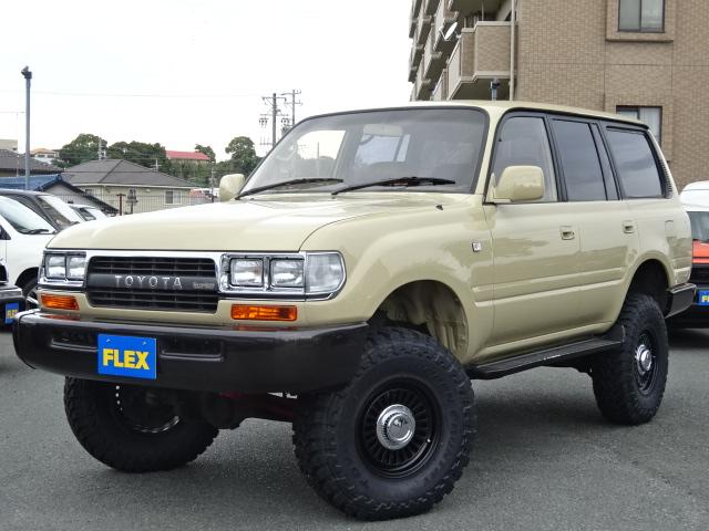 ランクル80VX-LTD後期ディーゼルターボ、低走行13万km!!ベージュNEWペイント!!