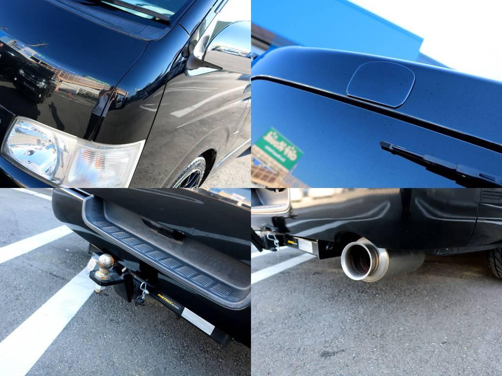 フロント&リアアンダーミラーレス施工!!ヒッチメンバーやマフラーカッターも装備!! | トヨタ レジアスエース 3.0 スーパーGL ロングボディ ディーゼルターボ 4WD