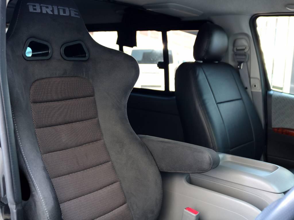 運転席はBRIDE スポーツシートに換装!! | トヨタ レジアスエース 3.0 スーパーGL ロングボディ ディーゼルターボ 4WD