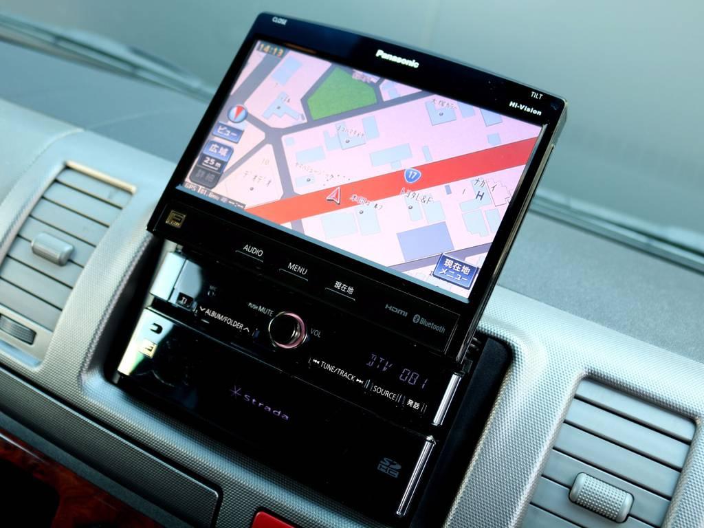ストラーダ HDDナビを搭載!! | トヨタ レジアスエース 3.0 スーパーGL ロングボディ ディーゼルターボ 4WD