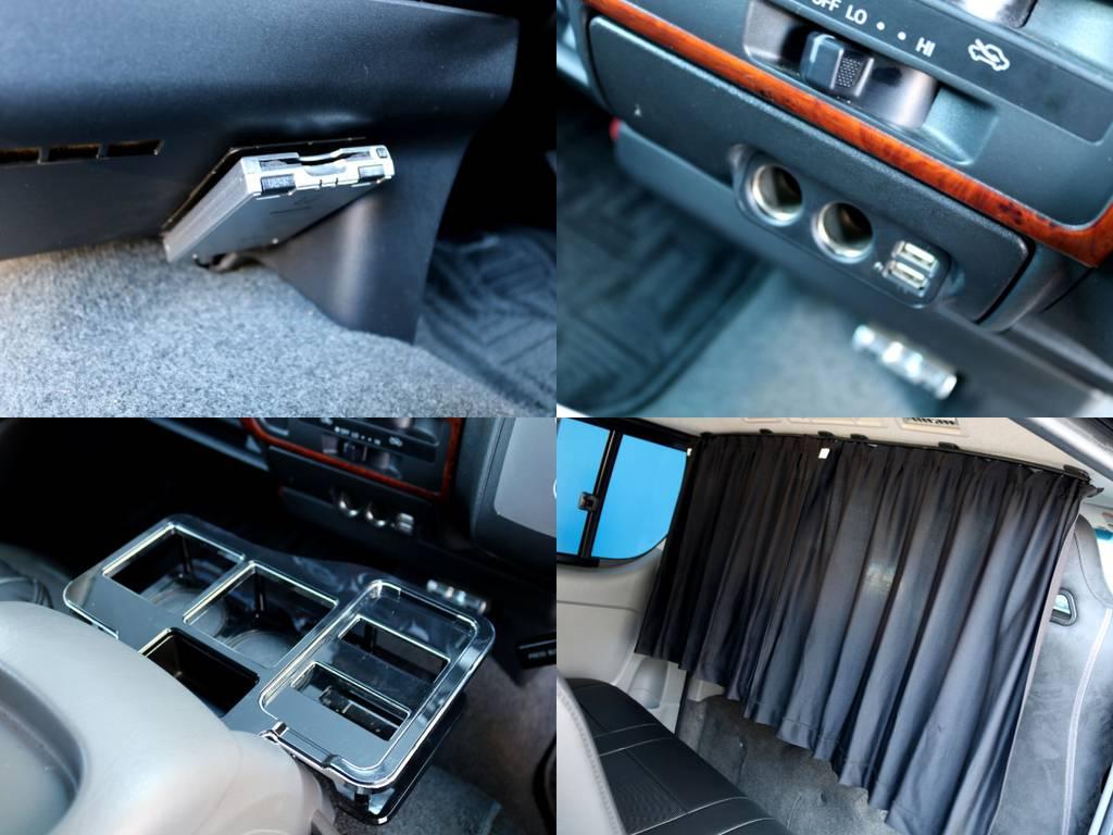 ETCももちろん完備!!その他小物も充実しております!! | トヨタ レジアスエース 3.0 スーパーGL ロングボディ ディーゼルターボ 4WD