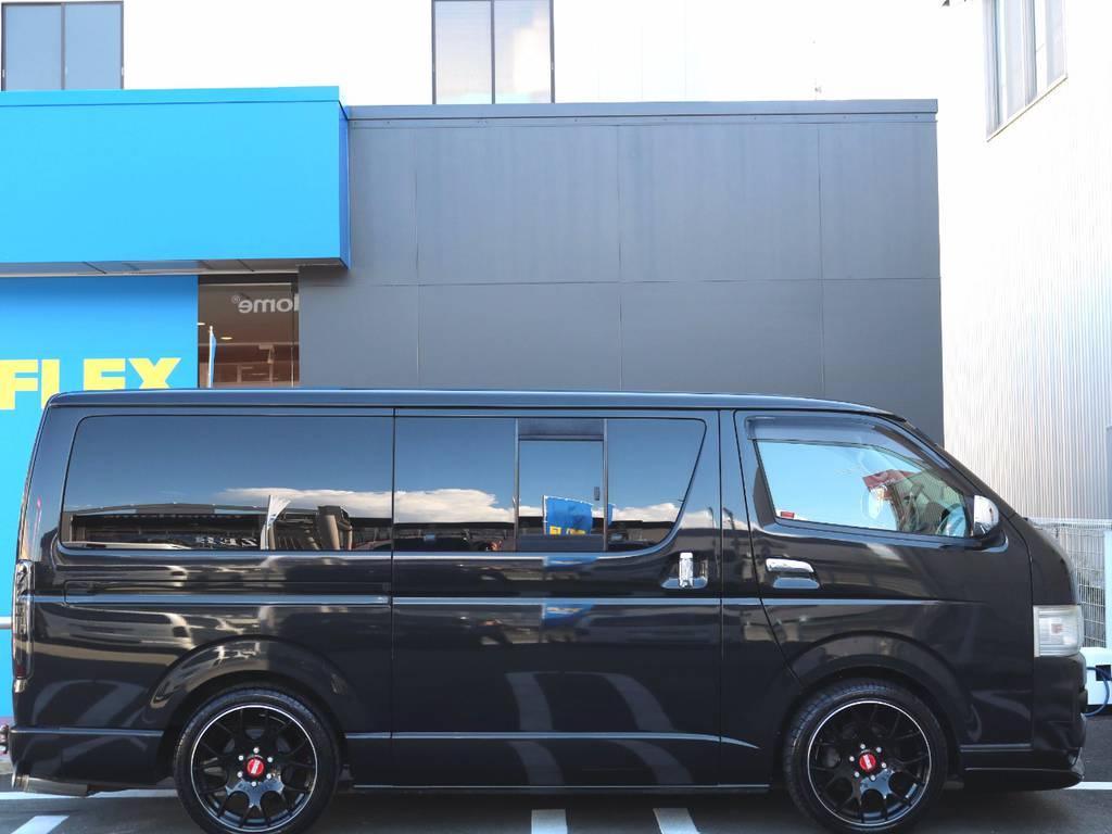 2インチローダウン済!!社外ショック交換で乗り心地も良いですよ!! | トヨタ レジアスエース 3.0 スーパーGL ロングボディ ディーゼルターボ 4WD