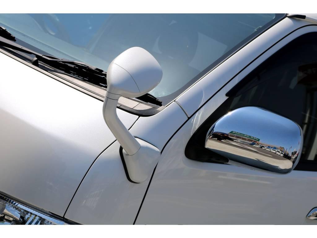 フロントアンダーミラーはボディ同色塗装!! | トヨタ レジアスエース 3.0 スーパーGL プライムセレクション ロングボディ ディーゼルターボ 4WD