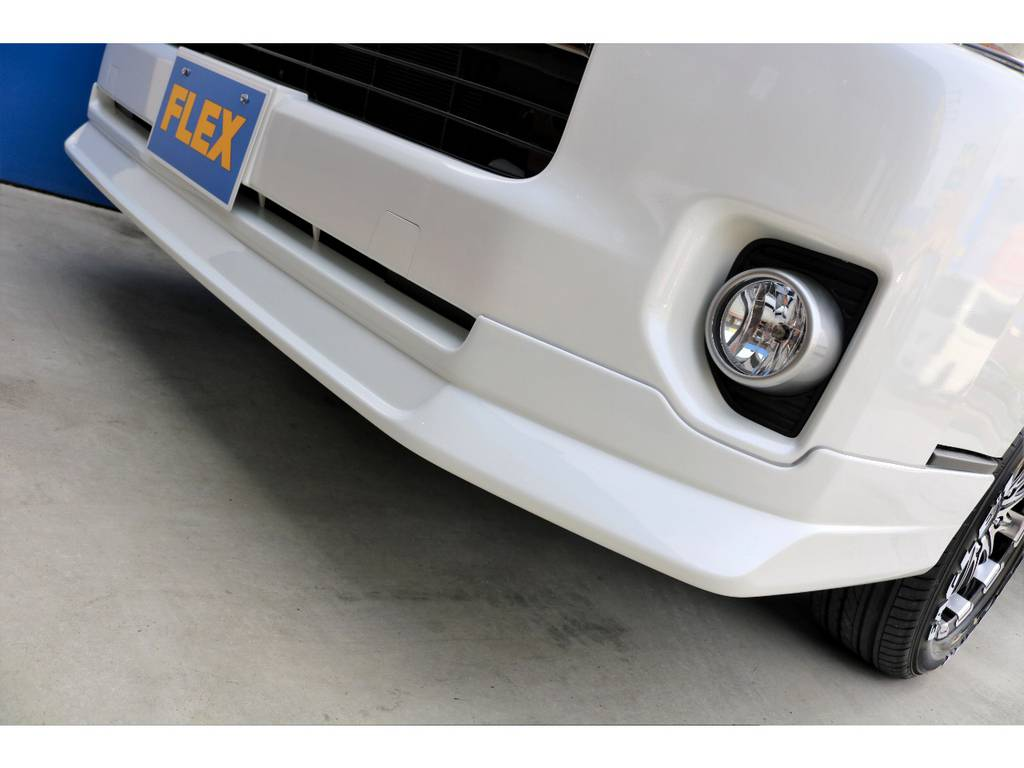 FLEXオリジナルDLフロントスポイラー!!   トヨタ ハイエースバン 2.7 スーパーGL 50THアニバーサリー リミテッド ワイド ミドルルーフ ロングボディ4WD