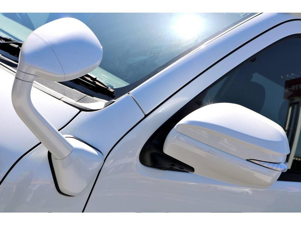 フロントアンダーミラーボディ同色塗装!!アベスト ウィンカーミラーも装着!! | トヨタ ハイエースバン 2.7 スーパーGL 50THアニバーサリー リミテッド ワイド ミドルルーフ ロングボディ4WD ベッドキットPKG