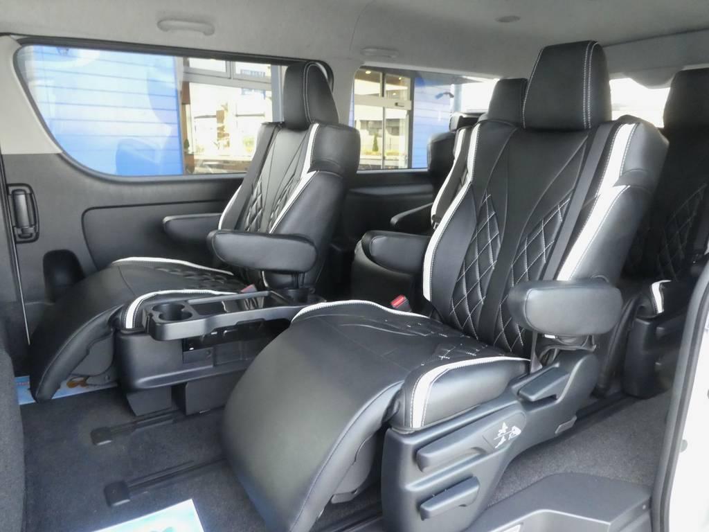 アルファードに採用されているキャプテンシートを4脚配備されています!!