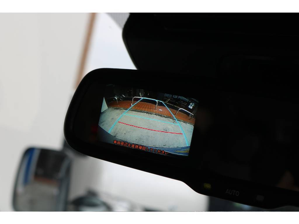 バックカメラ付き防眩ミラーを標準装備しております!後方確認ができますので、ご安全にバック駐車が行えます♪