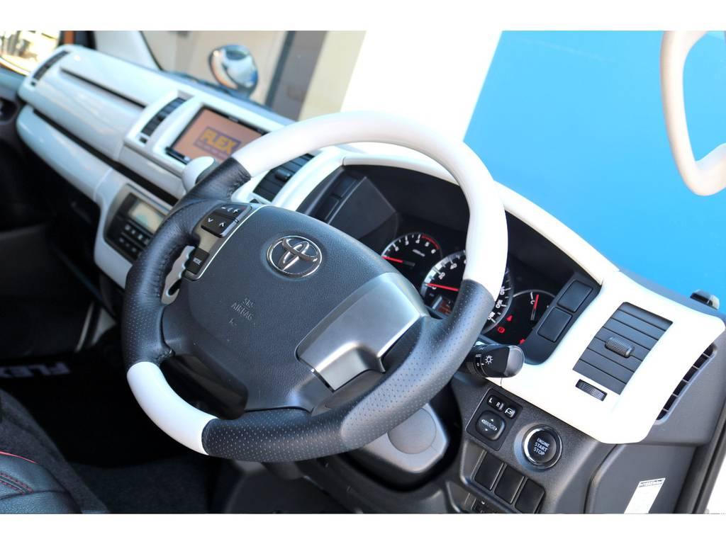 ハイエースの運転席は見晴らしが良く、ご安全にお乗りいただけます♪ | トヨタ ハイエースバン 3.0 スーパーGL ロング ディーゼルターボ ベッドキットPKG