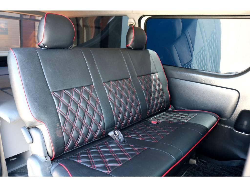 セカンドシートは3名掛けでも広々ご使用頂けます♪ | トヨタ ハイエースバン 3.0 スーパーGL ロング ディーゼルターボ ベッドキットPKG