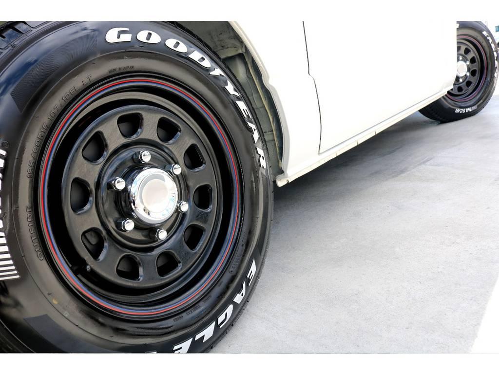 デイトナブラック 16インチアルミは定番ながら、絶大な人気を誇る商品です♪ご希望のアルミがあれば、ご相談下さい! | トヨタ ハイエースバン 3.0 スーパーGL ロング ディーゼルターボ ベッドキットPKG
