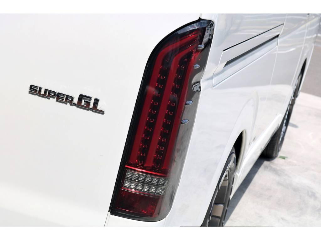FLEXオリジナル アルティメットテールを装着♪新作テールをいち早くご覧頂けます! | トヨタ ハイエースバン 3.0 スーパーGL ワイド ロング ミドルルーフ ディーゼルターボ